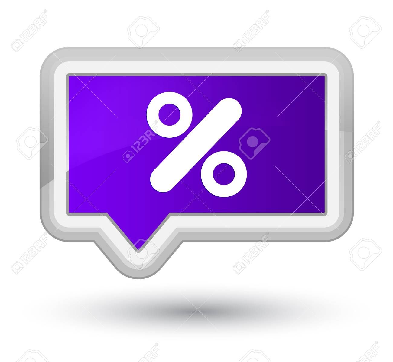 Discount Icon Isolated On Prime Purple Banner Button Abstract Illustration Affiliate Isolated Prime Discount Icon Purple Flip Clock Illustration