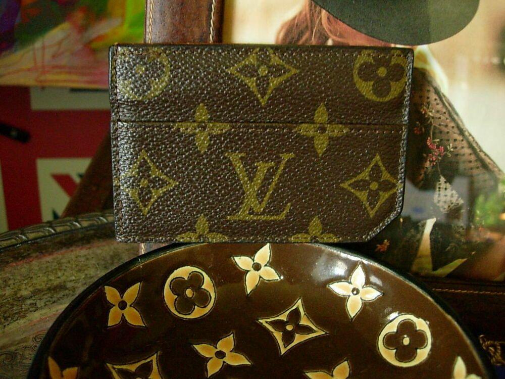 Auth ultra rare vintage louis vuitton pocket snap wallet