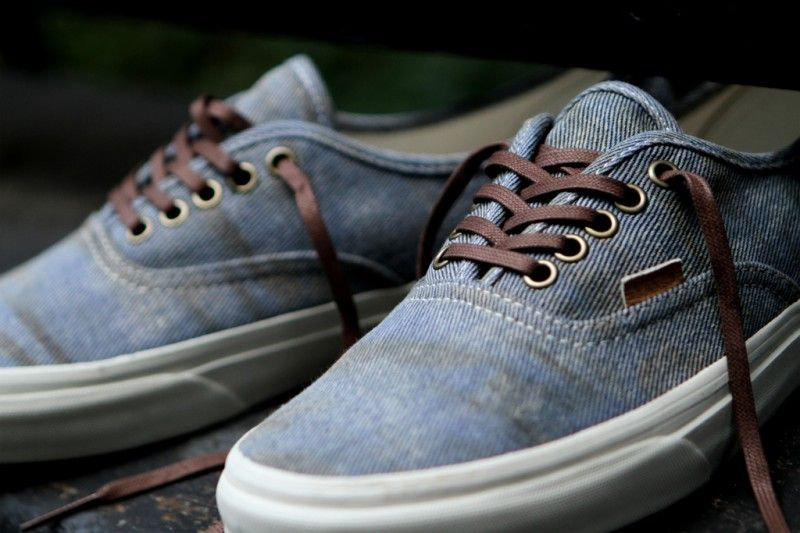 """14f98c8a6c waxed lace love Vans California Authentic CA """"Stained"""" Olive   Light Blue   Kith  NYC"""