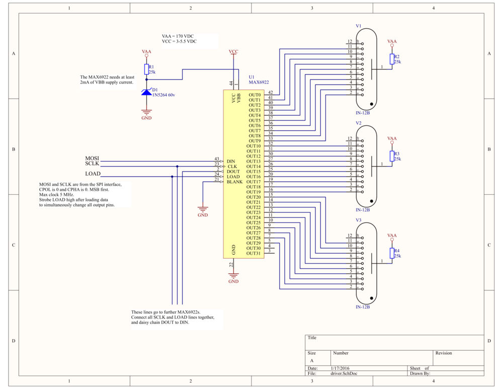 schematic for wiring up a nixie IN-12 tube | Nixie Tubes in ... on