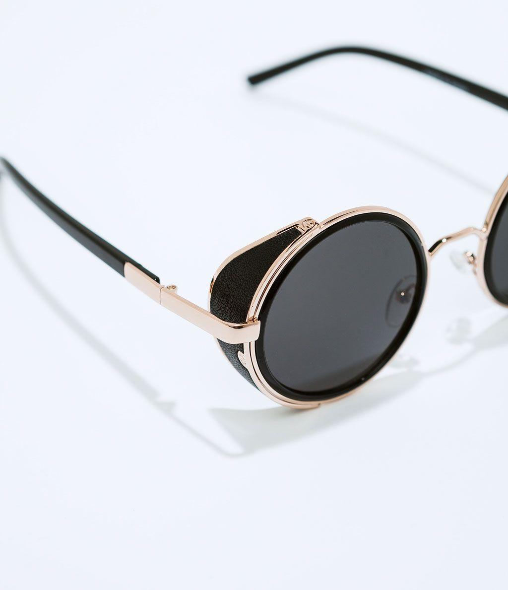 image 4 de lunettes de soleil rondes de zara binocles. Black Bedroom Furniture Sets. Home Design Ideas