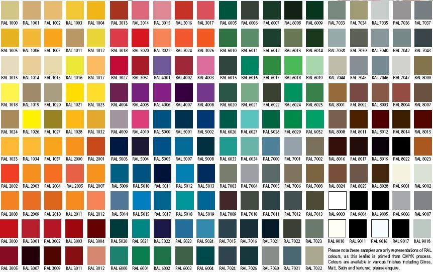 RAL Color chart | Colors | Pinterest | Shutter colors, Ral color ...