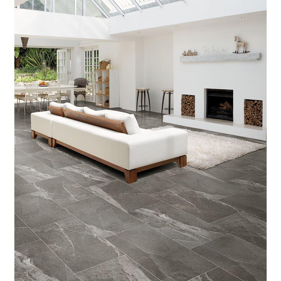 Best Shop Style Selections Briarmist Grey Glazed Porcelain 400 x 300