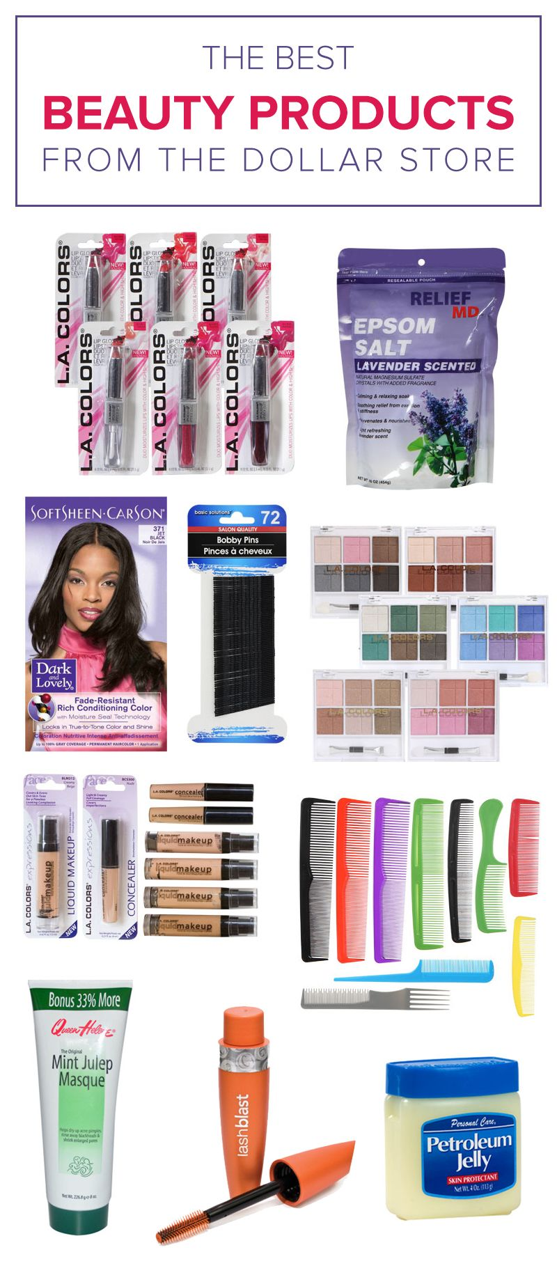 2ac83291131 These are the best beauty products available at your local dollar store.  From hair color