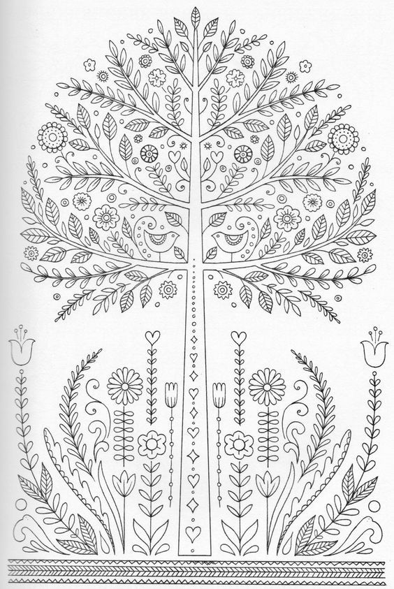 Mandala árbol y flores   MANDALAS PARA PINTAR   Pinterest   Colorear ...