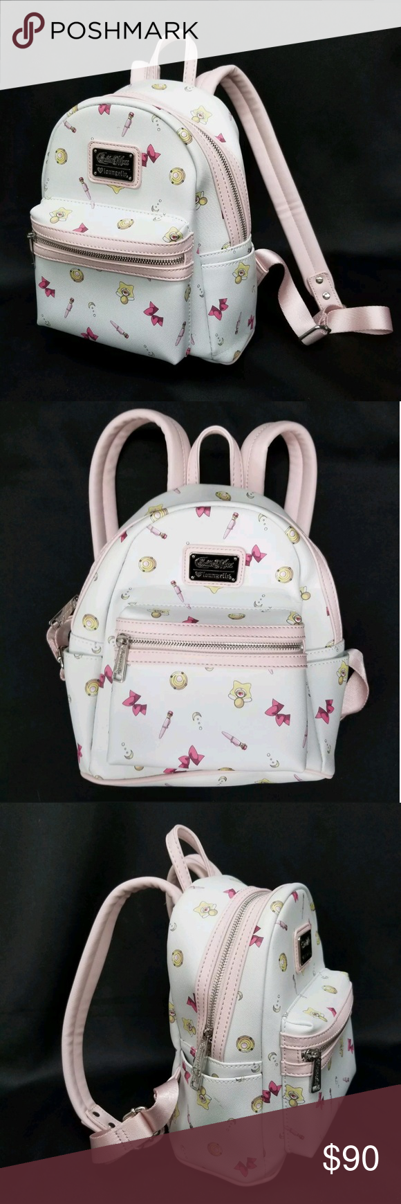 Loungefly Sailor Moon Icons mini backpack purse New