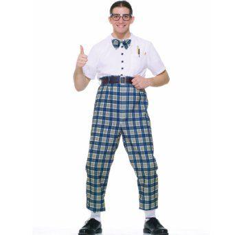 NERDY NED ADULT MENS NERD SCHOOL BOY FANCY DRESS HALLOWEEN GEEK COSTUME