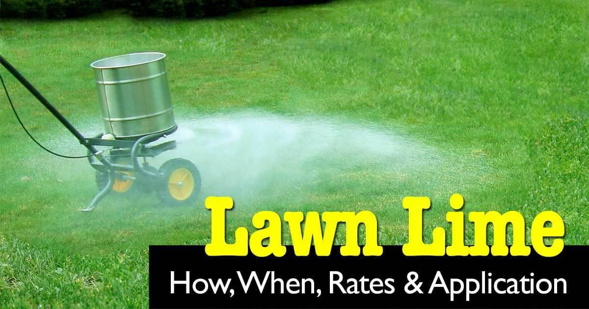 Lime For Lawns How, When, Rates and Application Lime