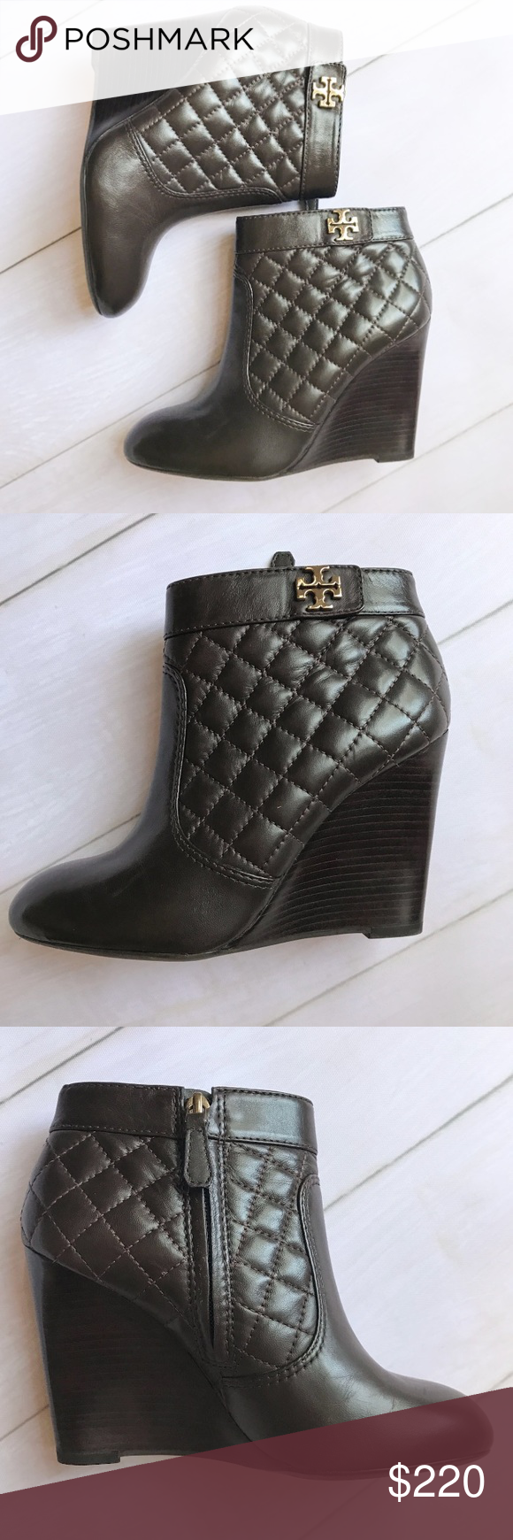 28958fc6080 Tory Burch Brown Quilted Leila Booties Like new Leila booties by Tory Burch!  Super comfy