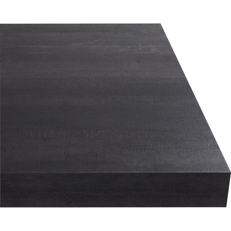Plan De Travail Stratifie New Vintage Wood Noir Mat L 315 X P 65 Cm Ep 58 Mm Plan De Travail Stratifie Plan De Travail Et Noir Mat