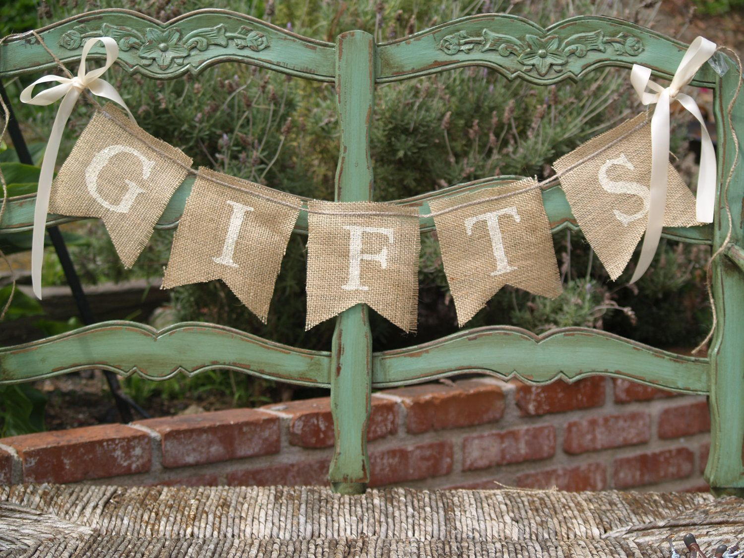 GIFTS Burlap Banner Wedding Gifts Sign By Butterflyabove