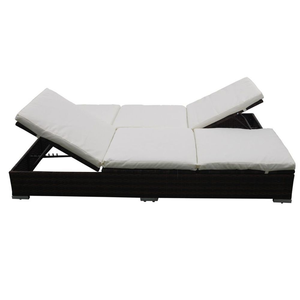 Rattan Sonnenliege Liege Lounge Strandliege Gartenliege Liegestuhl Doppel Liege In Garten Terrasse Mobel Liegen Sonnenliege Outdoor Sofa Sets Liegestuhl