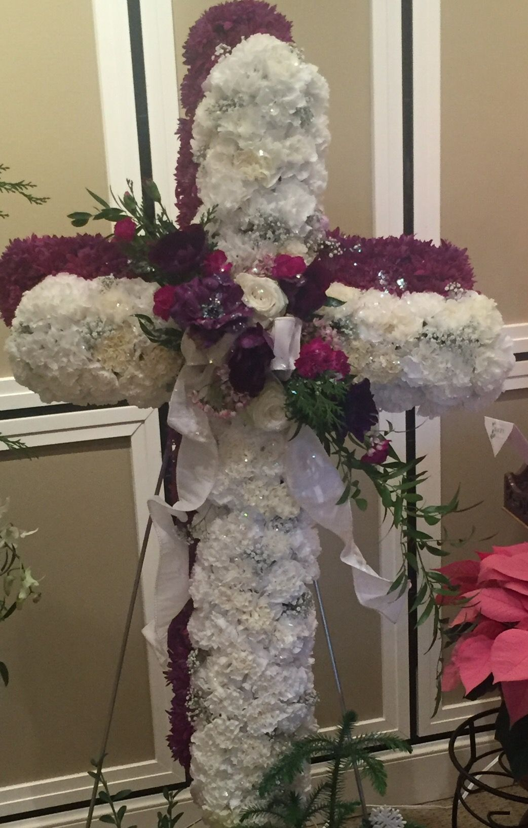 Double cross standing piece funeral flowers and sympathy tributes double cross standing piece flower quotes funeral flowers special occasion floral quotes izmirmasajfo