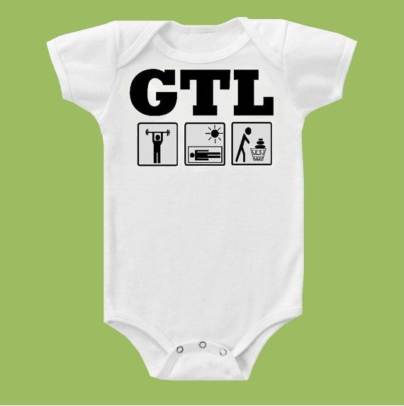 Gtl Gym Tan Laundry Jersey Shore One Piece Baby Or T Shirt By