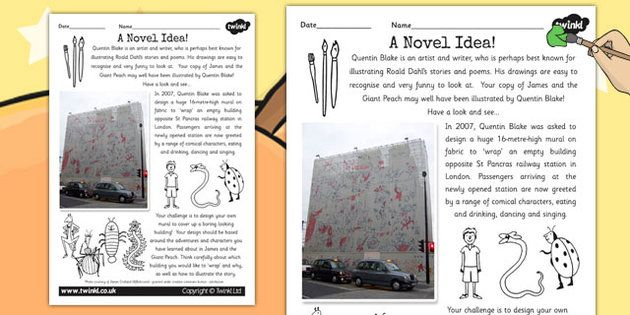 Quentin Blake Roald Dahl Inspired Art Activity - artists