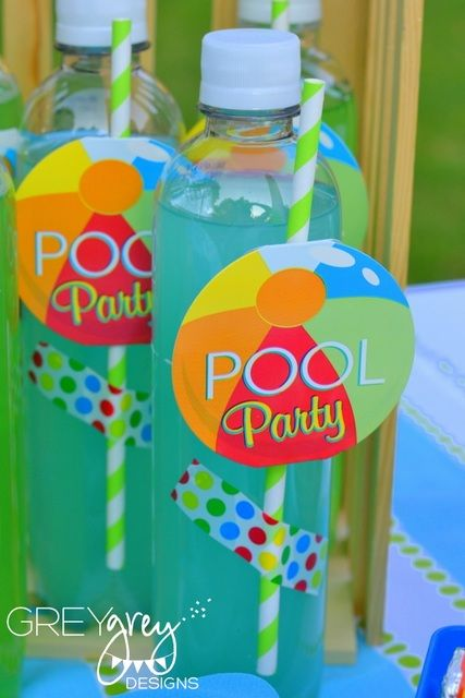 Drinks at a Beach Ball Party #beachball #partydrinks