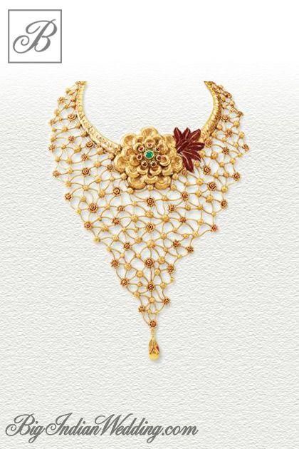 Azva bridal gold jewellery Bridal Jewellery Pinterest Gold