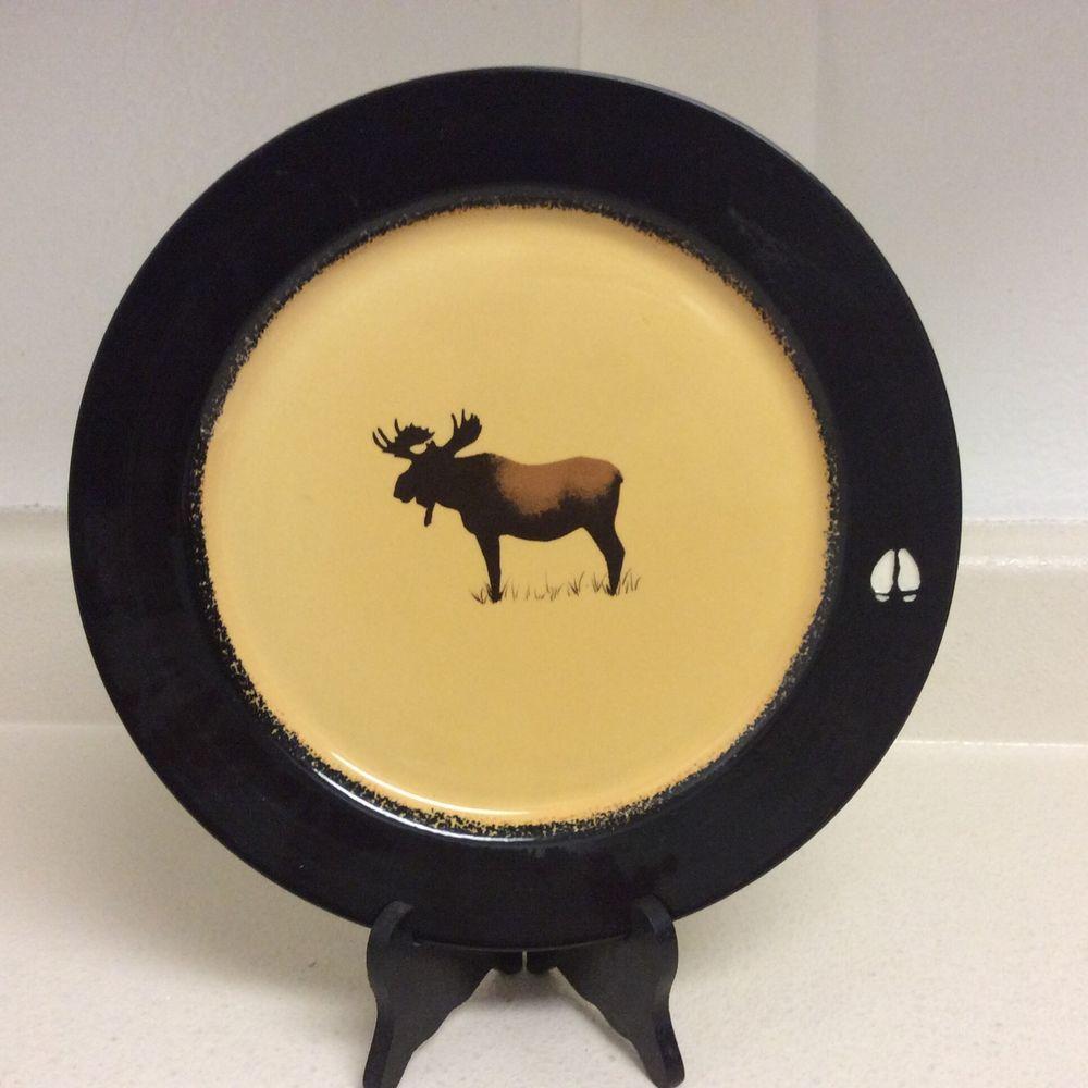 Big Sky Carvers Brushwerks Moose Dinner Plate 10-5/8  #BigSkyCarvers & Big Sky Carvers Brushwerks Moose Dinner Plate 10-5/8