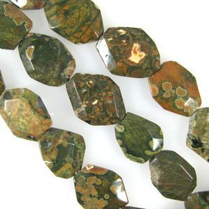 Rhyolite 25x30mm Flat faceted Oval