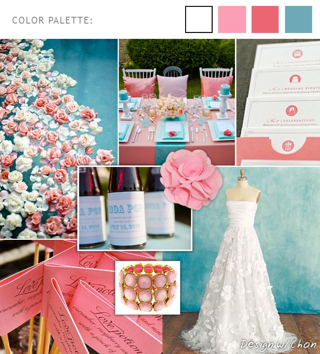 June Wedding Ideas: Pink And Blue Wedding Theme