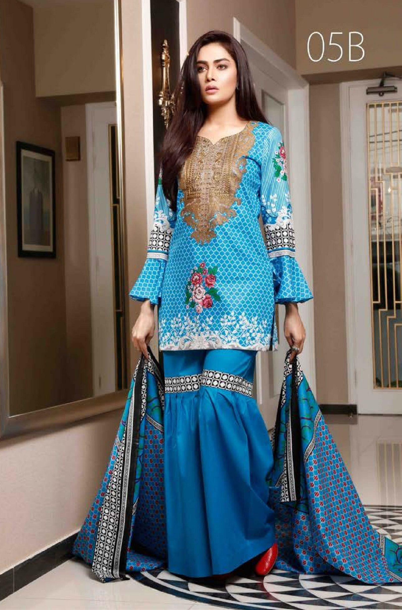 ca7b6ac061 Sahil Collection Presents Lawn Embroidered vol 4 Original Pakistani Suits  05B