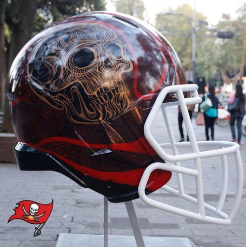a19c9025 Tampa Bay Buccaneers helmet painted for the 2016 Mexico City NFL ...
