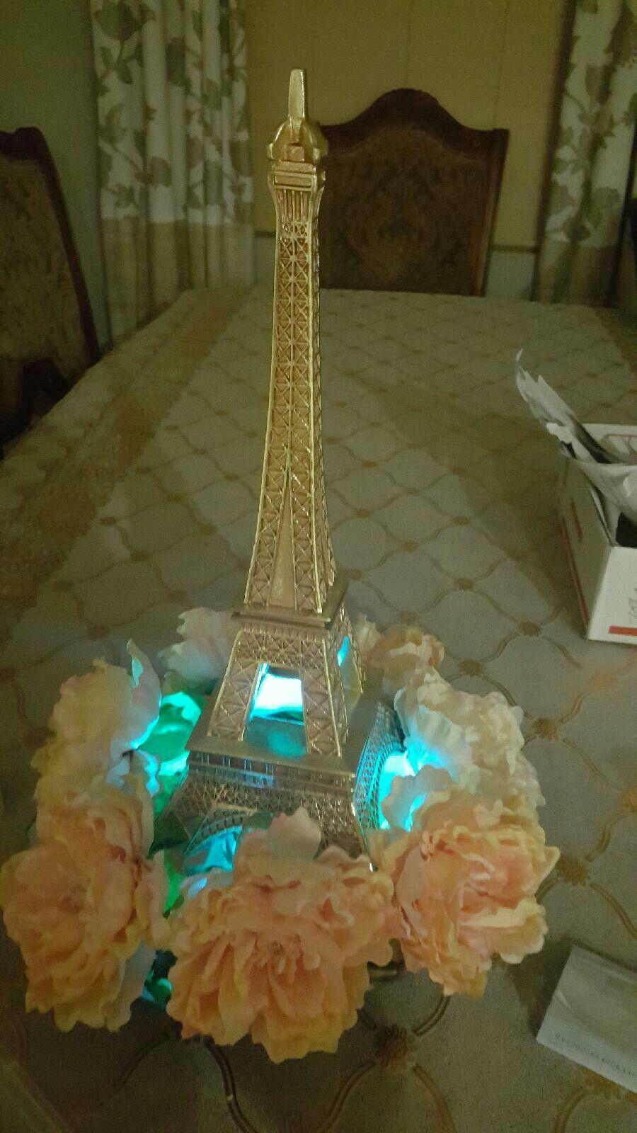 Paris themed centerpiece princess party cumplea os de for Paris themed decor