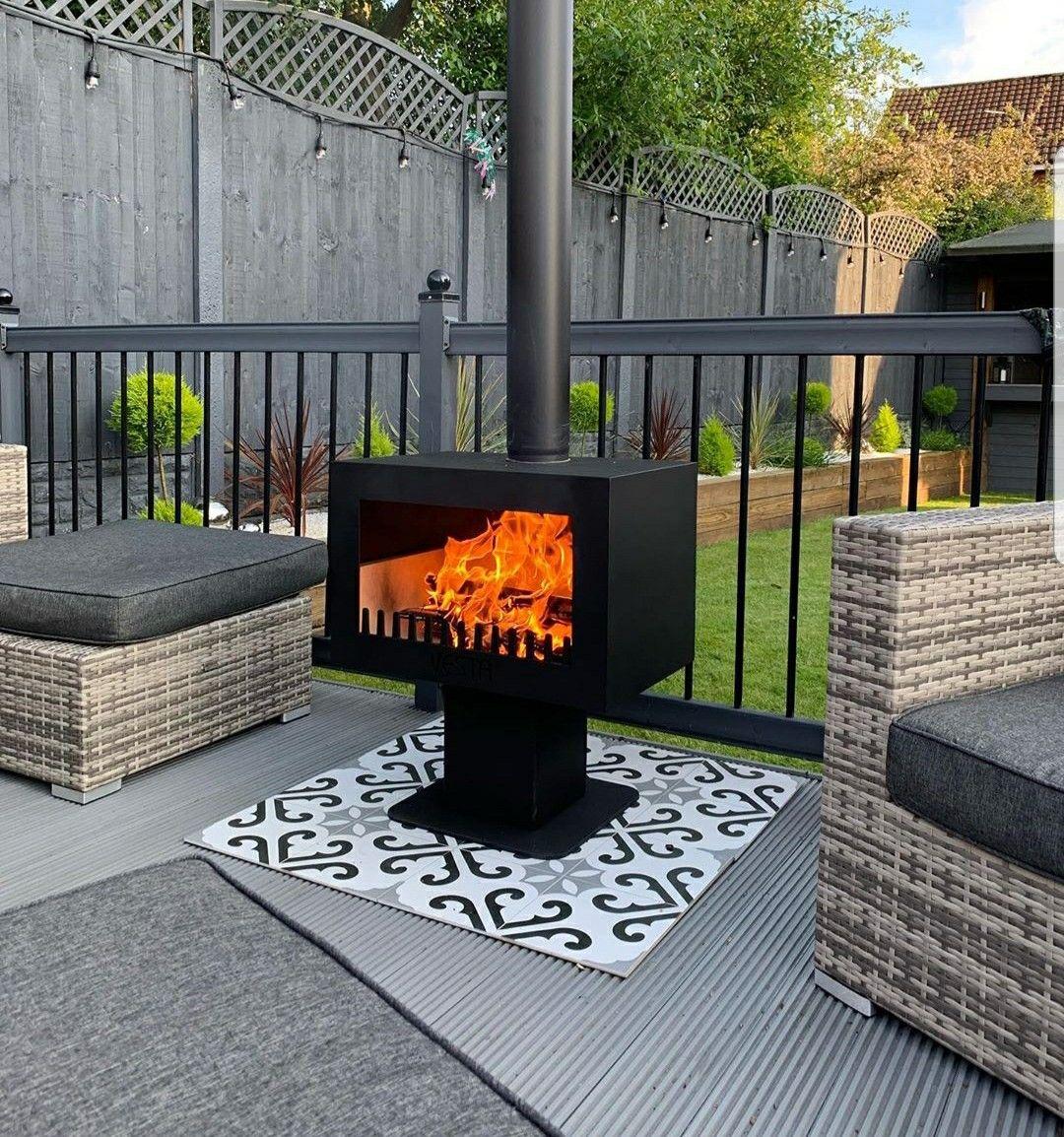 Fiesta Garden Stove And Chimnea Garden Wood Burner In 2020 Garden Wood Burner Wood Burner Chimnea