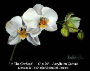 White Orchid Painting  www.customartbyalexis.com