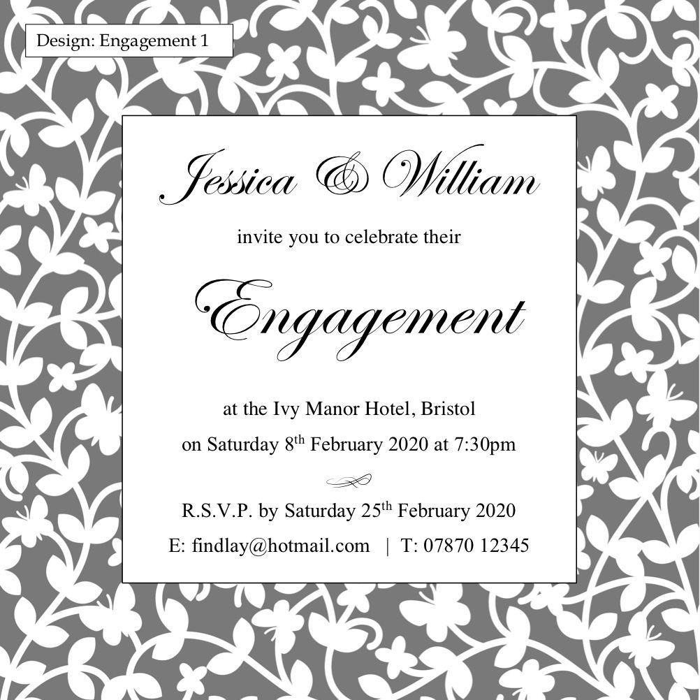 Engagement party invitations Gloucestershire, UK | Wedding ...