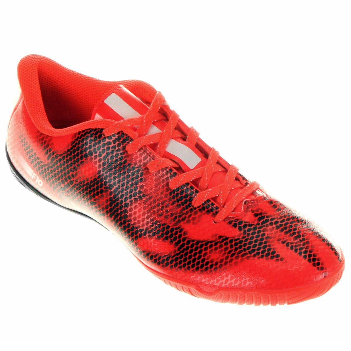 Chuteira Adidas F10 IN Futsal Laranja Escuro  9571b188fd1c0