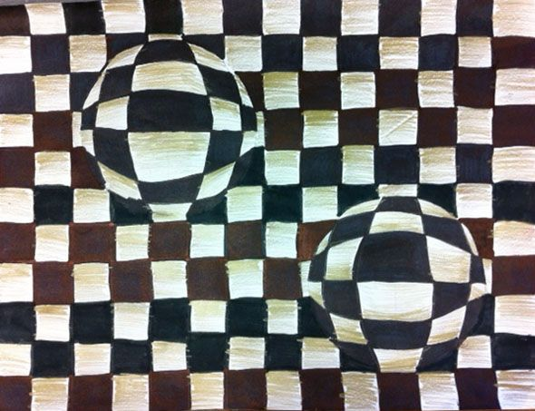Optische Täuschung Arts At School Pinterest Kunst