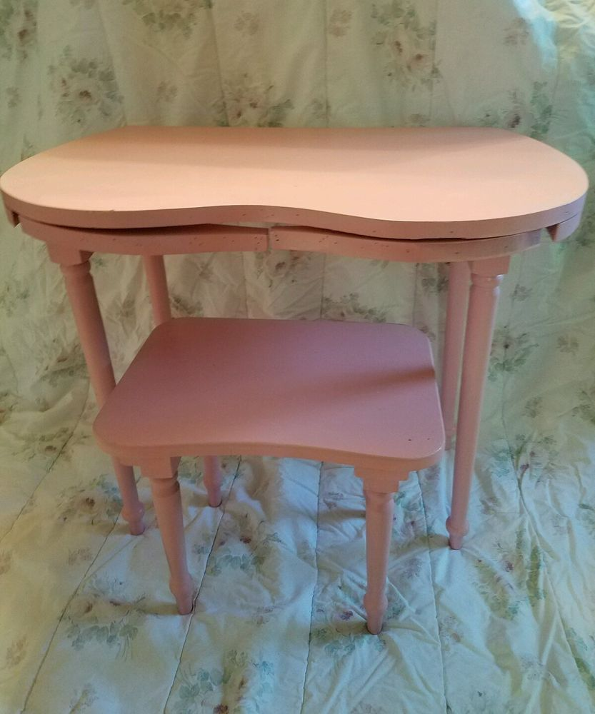Details about vintage pink childs chippy cottage shabby