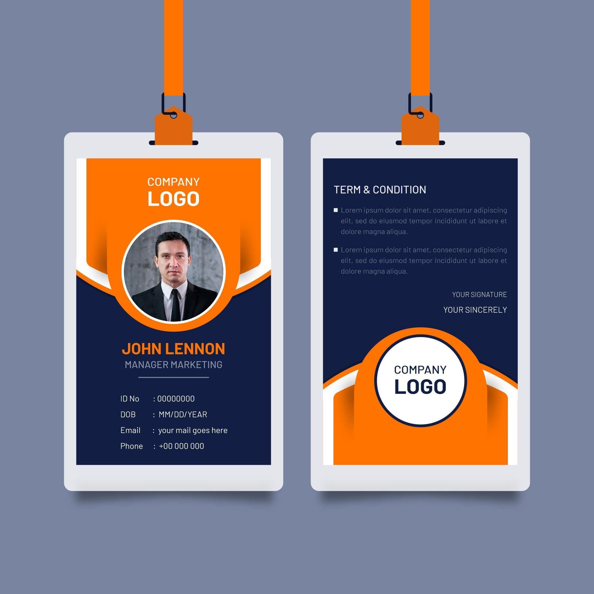 Business Identity Card For Employee Corporate Mockup Template Stylish Design Eps Illustrator Di 2021 Kartu Nama Kartu Catatan Undangan Pernikahan