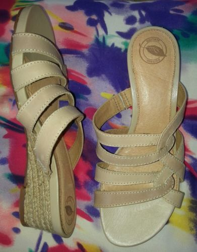 NURTURE beige NEW women's sz 8 1/2 B leather sandals with rope wedges MARLEY in Clothing, Shoes & Accessories | eBay