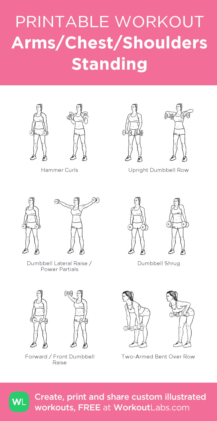 Arms/Chest/Shoulders Standing my visual workout created