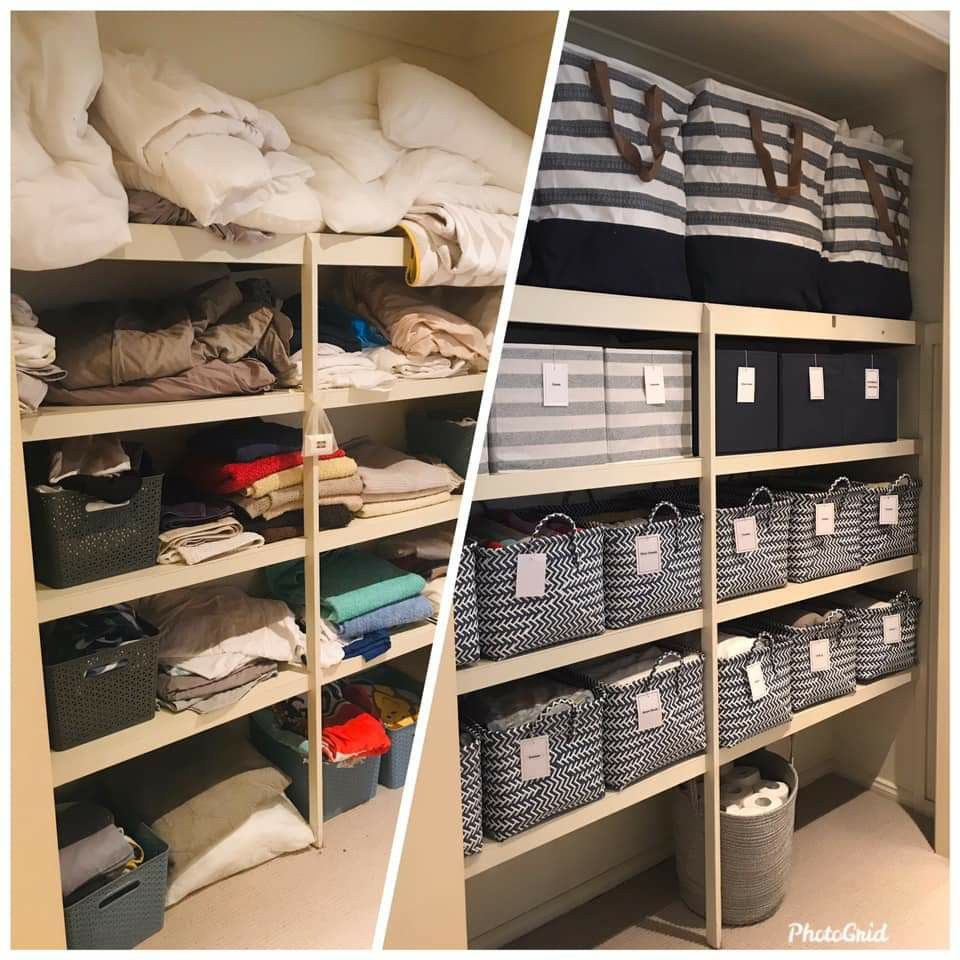 Linen cupboard. Everything was from Kmart 😍by Amy Raams   Linen ...