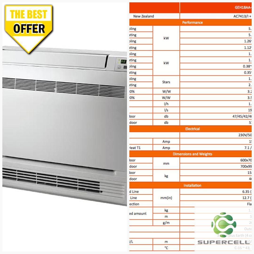 5 3 Kw Gree Heat Pump Floor Console Diy Air Conditioner Heat