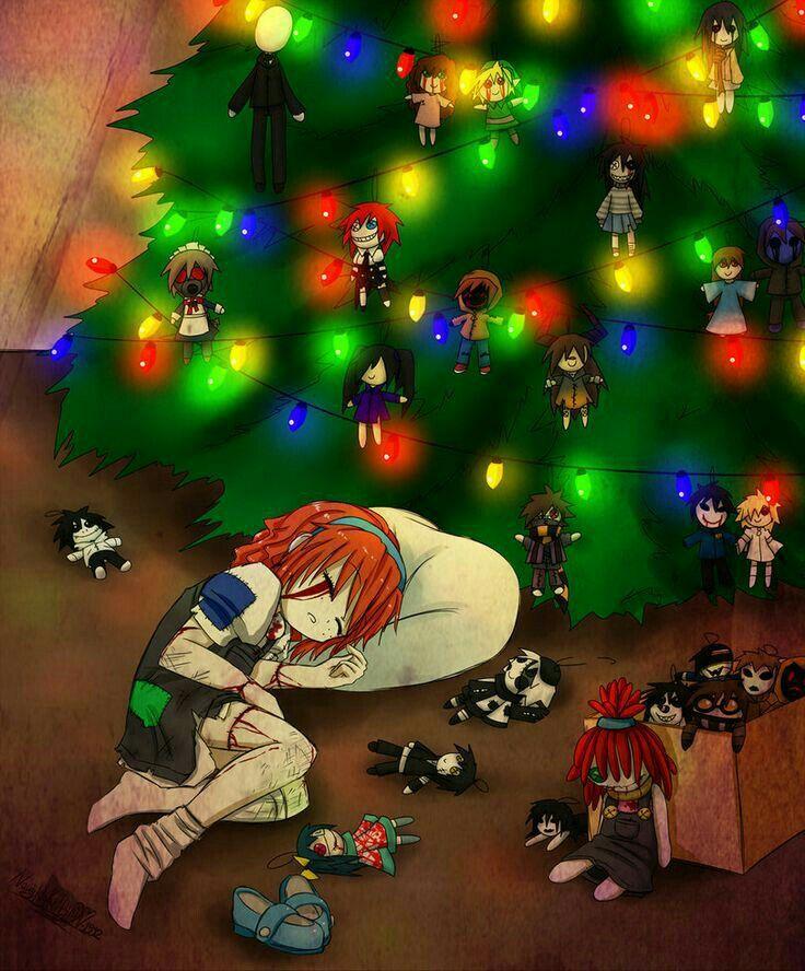 Merry Christmas, Doll Maker, crying, blood, sad, Creepypasta ...