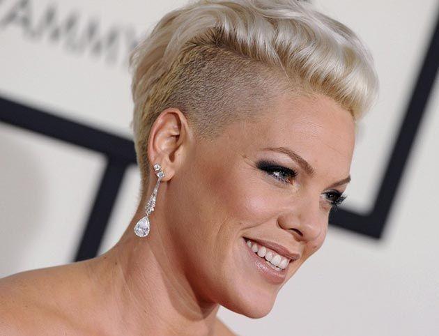 Pinks Hair Style: Grammy Awards 2014 Best Celebrity Beauty Looks