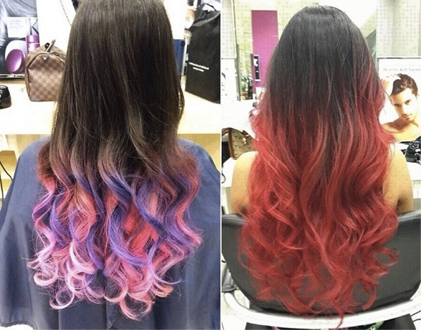 colored hair extensions for brunettes - Google Search | colored hair ...