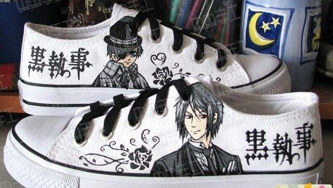 Anime Black Butler Ciel Phantomhive Cosplay Canvas Unisex Sneakers Casual Shoes