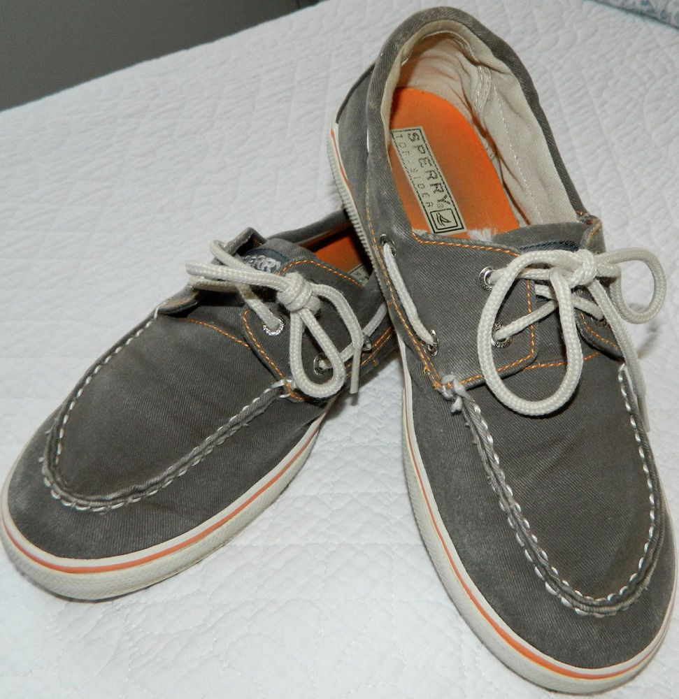 Boys SPERRY TOPSIDER Size 5 LOAFERS Boat SHOES Dressy CASUAL Blue GRAY Leather #Sperry #BoatShoes