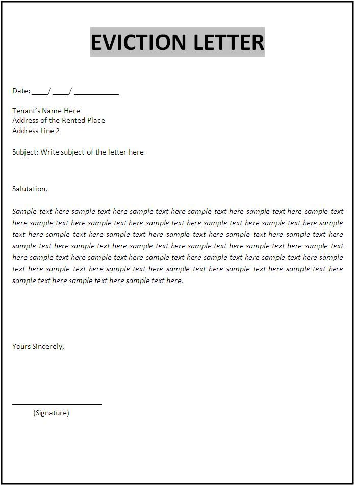 Purchase recommendation letter paper unionrestaurant – Eviction Notice Template Free