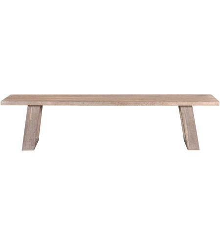 Moe's Home Collection VE-1077-29 Tanya Grey Bench