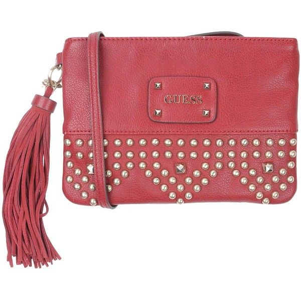Guess Cross-body Bag (3 015 UAH) ❤ liked on Polyvore featuring bags, handbags, shoulder bags, maroon, red crossbody, mini handbags, red shoulder bag, mini crossbody purse and crossbody shoulder bag