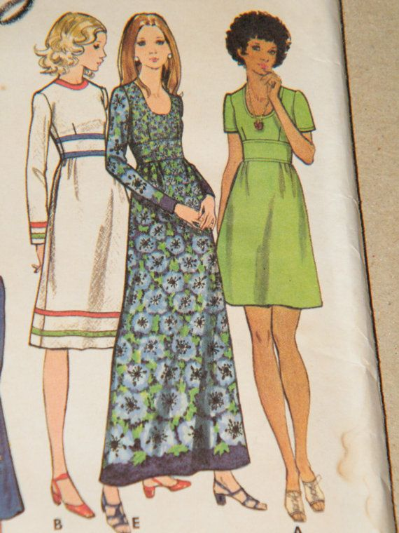 Butterick 6601 - Misses Dress, Tunic and Pants - Size 14, bust 36 - Dress in four lengths, or Tunic has oval or scooped neckline, fitted bodice, inset midriff, slightly gathered skirt, and short or full length sleeves. With or without trim variations. Straight-legged pants have elasticized waistline. Pattern comes UNCUT and complete with instructions. Discoloration and handwriting on envelope.