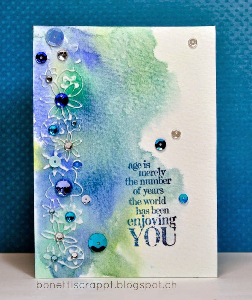Karte Aquarell Watercolor Card Aquarell Karte Watercolor Card