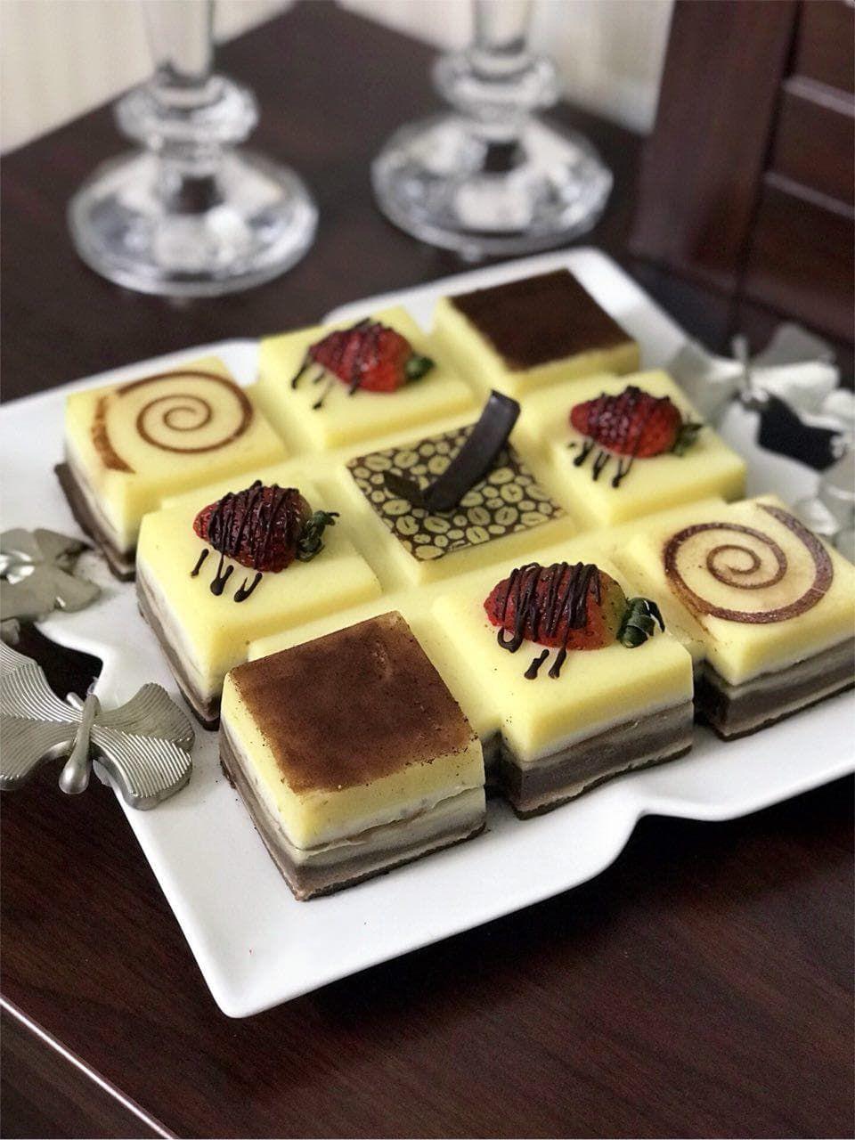 دسر باواريا دورنگ Recipe Fancy Desserts Cooking And Baking Patisserie Design