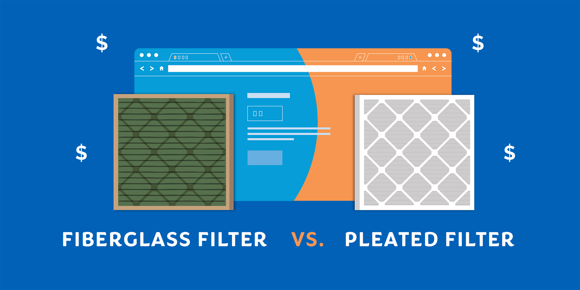 Fiberglass vs Pleated Air Filters Fiberglass filters are